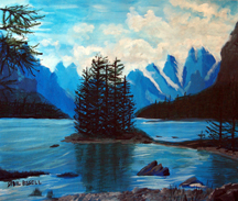 Maligne Lake by Sybil A Bissell