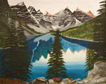 Moraine Lake by Sybil A Bissell