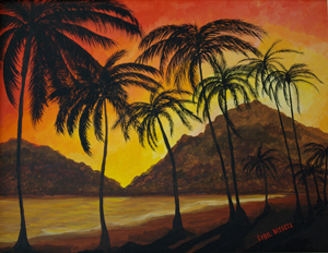 Tropical Sunset by Sybil A. Bissell